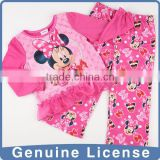 2014 new style wholesale Printed 100% polyester baby animal pajamas