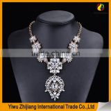 Latest Design Flower Shape China Factory Wholesale crysal diamond stone Jewelry Pearl Necklace