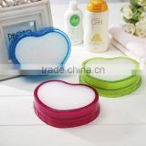 customized plastic heart shape soap dish/case/holder