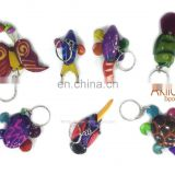 Animal Keychains of Tagua in Assorted Colors
