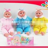 "14"" cheap baby dolls lovelly IC baby with costume"