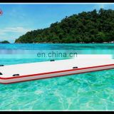 white inflatable drop stitch air pontoon inflatable floating dock , inflatable boat docks for sea