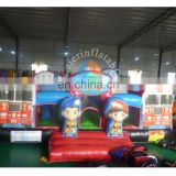 Factory Customized New Inflatable Firetruck Playground for sale