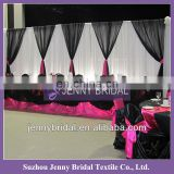 BCK055 wedding chiffon and organza luxurious white backdrop for wedding