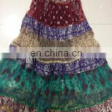 latest design rajasthani long skirt indian skirt wholesale price 2016 gold print skirt