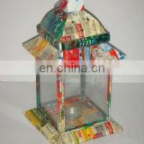 Recycled Tin Candle Lantern