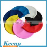Durable Stylish Sporty cool high quantity whosale cheap promotional waterproof silicone swim caps