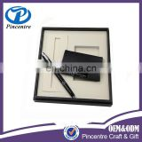 Business card holder and pen gift set most selling product in alibaba