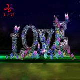 outdoor waterproof LOVE character 3d motif lights for holiday decorations