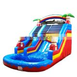 Outdoor Playground Inflatable Water Slides With Pool For Kids Play Center