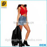 New arrival high waisted blue hot short sexy tight jeans pants