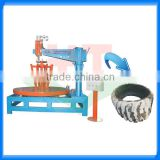 diameter 1.6 to 4m OTR tire cutting machine/cutting otr tyres machine for oil plant/OTR tire cutter