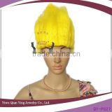 cheap wholesale yellow color party big troll wigs