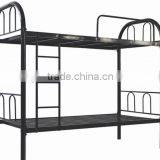 (DL-B1) High quality heavy duty design powder coated steel metal bunk bed price/metal iron bed / two floor metal bed in black