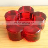 red candy decor glass candle holder/candle jars/table tealight holders