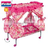 FEI LI metal baby doll cribs and beds with rotate wheels iron doll bed metal doll bed