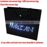 FH Newest Custom Design Flash Bag Luminous Bag Non Woven Bags for Evening Activities Decoration