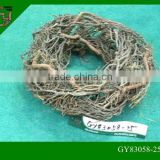 natural wicker rattan wreath handmade Christmas decorations