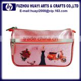 Pu leather cosmetic tote bags wholesale cute makeup bags