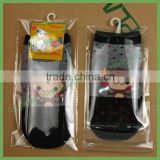Wholesale Custom Printed Transparent OPP Self Adhesive Plastic Bag for Socks with Hanger Hole