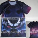 OEM Breathable 100 polyester sublimation t shirt/Men's bulk no brand dye sublimation t shirt printing