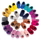 Hot soft sole genuine leather baby moccasins tassel new born baby shoe                                                                                                         Supplier's Choice