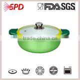 forge casserole with Nonstick/ceramic Coating Heatproof Paint Conjoined Aluminium Handle With Silicone Gloove