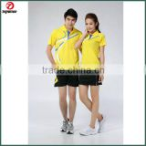 Custom design badminton/volleyball/tennis jersey couple sportswear polo t shirt set jersey