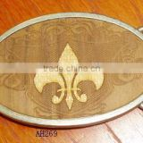 New arrival oval metal plate belt buckle for men