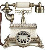 Continental retro antique telephones creative rotary dial telephone battery-free home Alice