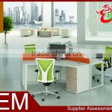 modern small office interior partition 3 person workstation design M1575
