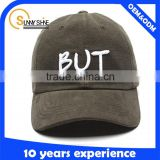 Blank leather strap back hat suede baseball cap