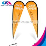 promotion outdoor stand teardrop beach flag