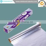High quality kitchen Hot stamping Household Paper backed Aluminum Foil brands insulation Roll for food