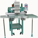 "7"" Touch Screen Professional T shirt / Cap Single Head Embroidery Machine 12 needle"