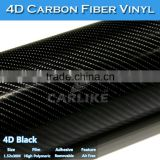 CARLIKE High Glossy 4D Black Vinyl Car Wrap Carbon Fiber Sticker Foil