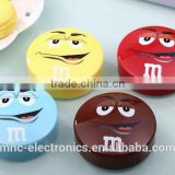 Promotion gift personalized logo printing round shape smart mobile battery pack power bank charger with micro usb charging cable                                                                                                         Supplier's Choice