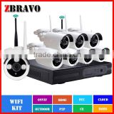Wireless video camera WIFI NVR System Infrared camera 960P 1280*960 8pcs Bullet Outdoor Webcam Network