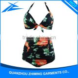 2016 sex swimming costume wear girl bikini swimming wear with custom logo