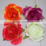 NEW Artificial Rose Silk Flower Heads Decoration for Wedding Party Banquet Decorative Flowers