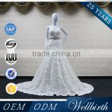 Factory Directly Sell Fishtail Backless Long Mermaid Wedding Dress