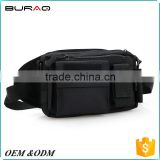 Hot sale black travel rfid money belt rfid waist bag