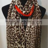 High Quality Leopard Print Cotton Scarf