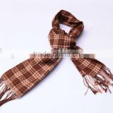 SD07JG0501 CHECKED PATTERN WOVEN STOLES