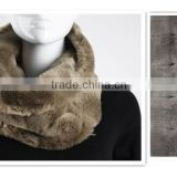 100% POLYESTER FAKE FUR INFINITY SCARF
