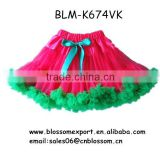 Christmas Baby girl tutu skirt fluffy skirt chiffon pettiskirts pettiskirt with big bow for children kids ballet tutu                                                                                                         Supplier's Choice