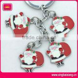 High Quality Christmas Santa Metal Key Chain