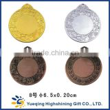 Metal Crafts production zinc alloy blank gold award metal sport medal with ribbon                                                                         Quality Choice