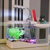 Mini Fish Tank Desktop mini aquarium tank with LED lamp,Fashionable home furnishing articles