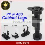 chinese kitchen height adjustable plastic cabinet legs HXM1309